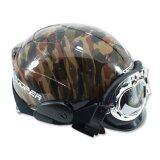 ขาย Space Crown หมวกกันน๊อค รุ่น ทูปเปอร์ B9 สีน้ำตาลพราง ถูก Thailand