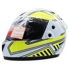 ขาย Space Crown หมวกกันน๊อค Fighter ลาย U 10 สีขาว เหลือง ออนไลน์ ไทย