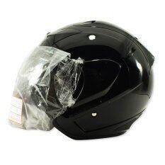 ซื้อ Space Crown หมวกกันน๊อค รุ่น Phonix V 1 สีดำเงา