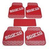 โปรโมชั่น Sparco ผ้ายางปูพื้น พรมปูพื้น 5ชิ้นเกรดซิลิโคน Sparco สี Red White Sparco ใหม่ล่าสุด