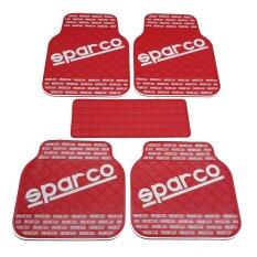 Sparco ผ้ายางปูพื้น พรมปูพื้น 5ชิ้นเกรดซิลิโคน Sparco สี Red White เป็นต้นฉบับ