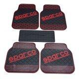 ส่วนลด Sparco ผ้ายางปูพื้น พรมปูพื้น 5ชิ้นเกรดซิลิโคน Sparco สีดำตัดแดง Sparco