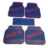 Sparco ผ้ายางปูพื้น พรมปูพื้น 5ชิ้นเกรดซิลิโคน Sparco สีred Blue เป็นต้นฉบับ