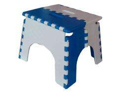 SPK Shop  เก้าอี้พับ โดบี้ ตัวเล็ก (สีขาว/น้ำเงิน)