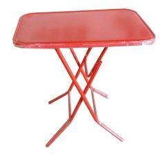ส่วนลด Spk Shop โต๊ะพับขาเหล็ก 3 ฟุต รุ่น หน้าเหล็ก สีแดง ไทย