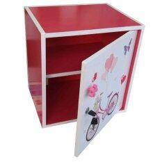 Spk Shop ตู้เซฟ  ตู้เก็บของ ตู้ข้างเตียง  ตู้อเนกประสงค์  รุ่น Safe Box1-2 (สีชมพู/ขาว).