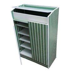 ส่วนลด Spk Shop ตู้รองเท้่า ลายไม้ รุ่น Zc 66 สีเขียว