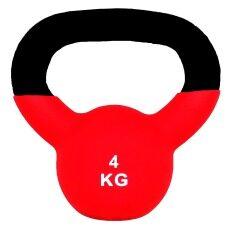 Sportland ดัมเบล Neoprene Dumbbell Kettlebel 4 Kg. (red) By Landco Sport And Musical.