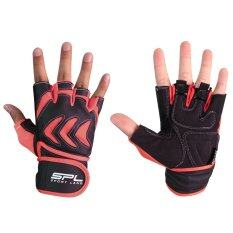 Sportland ถุงมือ ฟิตเนส ยกน้ำหนัก เทรนนิ่ง Fitness Gloves Commander Pink เป็นต้นฉบับ