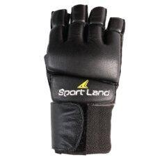 ขาย Sportland ถุงมือฝึกการต่อสู้ Black ราคาถูกที่สุด