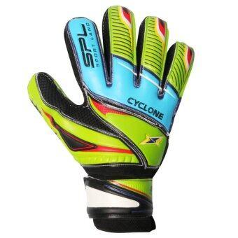 SPORTLAND ถุงมือโกล์ว ฟุตบอล Goal keeper Football Glove Cyclone (BLUE PALM )