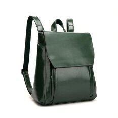 ราคา St Martshop กระเป๋าเป้สะพายหลังหนังแท้ รุ่น St168 สีเขียว ออนไลน์