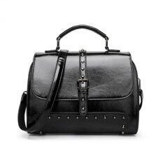 ซื้อ St Martshop กระเป๋าถือสะพายข้างหนัง รุ่น 210 สีดำ St Mart Shop ถูก