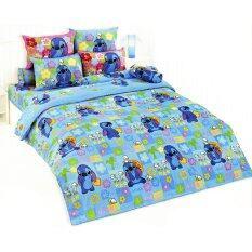 ซื้อ Toto Cartoon Stitch ชุดผ้าปูที่นอน รวมผ้านวม ลายสติช St15 ออนไลน์ ถูก