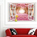 ซื้อ สติ๊กเกอร์ติดผนัง ตกแต่งบ้าน Wall Stickerหน้าต่าง Sweet Pink Street ขนาด 60X90 Cm ใหม่ล่าสุด