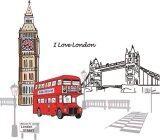 ส่วนลด สติ๊กเกอร์ติดผนัง ตกแต่งบ้าน Wall Sticker I Love London ความสูง 100 Cm กว้าง 90 Cm Unbranded Generic กรุงเทพมหานคร