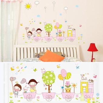 สติ๊กเกอร์ติดผนัง wall sticker / ลาย Children's train. / 90x120 cm.