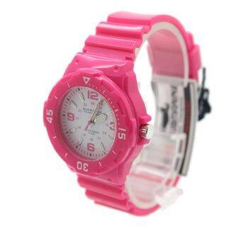Submarinerนาฬิกาข้อมือผู้หญิงและเด็ก สายยาง ระบบเข็ม - S0018 (Pink)