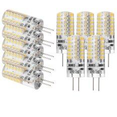 ขาย Sunix 10Pcs High Power G4 3W 48 Smd 3014 Led Silicone Spotlight Bulb Lamp Warm White ผู้ค้าส่ง