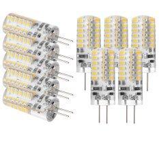 ซื้อ Sunix 10Pcs High Power G4 3W 48 Smd 3014 Led Silicone Spotlight Bulb Lamp Warm White Thailand