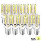 โปรโมชั่น Sunix 10X 5W E14 Led Light Bulb 2835 48 Smd Non Dimmable 6000K Silicone Corn Bulb Pure White ถูก