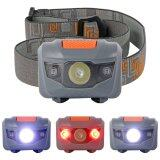 ส่วนลด สินค้า Super Bright 300Lm Mini Headlight 3X Cree R3 2 Red Led Headlamp Head Torch Lamp Grey