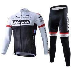 ราคา Super D Shop ชุดยาวปั่นจักรยานลายทีม ยี่ห้อ Trek Yกางเกงเป้าเจล แบบ ผู้ชาย ผู้หญิง ออนไลน์