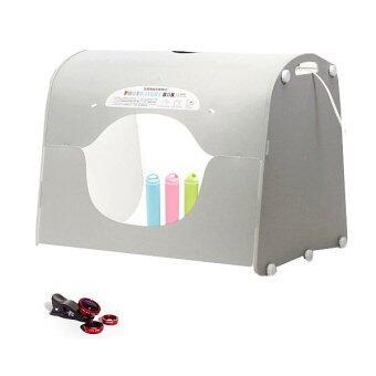 Super Fitness Light Boxกล่องไฟถ่ายรูป ถ่ายภาพสินค้า K40 แถมฟรีเลนส์เสริมมือถือ 3 แบบ