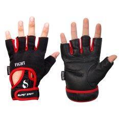 ขาย Super Sport ถุงมือ ฟิตเนส ยกน้ำหนัก เทรนนิ่ง Fitness Gloves Fight Red Super Sport ออนไลน์
