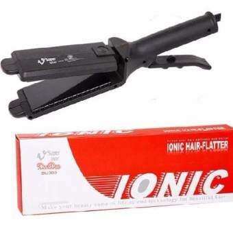 (ของแท้+ส่งฟรี!) SUPER V INTER เครื่องรีดผม ซุปเปอร์วี รุ่น SU389 (Ionic A) สีดำ หน้าใหญ่ รีดเร็ว ตัวแผ่นเคลือบIonic แท้100% ปรับระดับความร้อนได้ หลังใช้ผมเรียบลื่น เงางาม ร้านทำผมนิยมใช้-