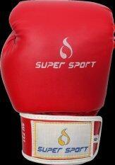 SUPERSPORT นวม นักมวย หนัง PU Boxing Gloves 6 Oz. รุ่น SU731 - สีแดง