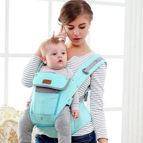โปรโมชั่น sureshopping เป้อุ้มเด็ก เป้สะพายเด็ก เป้อุ้มทารก เป้อุ้ม Baby Carrier รุ่นขายดี สีฟ้า พลาสเทล