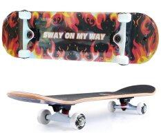 ขาย Sway สเก็ตบอร์ด นน 3 กก แถมฟรี กระเป๋า ลูกปืนสำรองและอุปกรณ์ Skateboard รุ่น Luxury Model Fire Kirin Red ใหม่