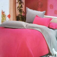 ราคา Sweet Kip ชุดผ้าปูที่นอน 6 ฟุต พร้อมผ้านวม 6 ชิ้น สีพื้น สีบานเย็น เทา Unbranded Generic ใหม่