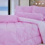 ราคา Sweet Kip ชุดผ้าปูที่นอน 6 ฟุต พร้อมผ้านวม 6 ชิ้น สีพื้น สีชมพู ใหม่ ถูก