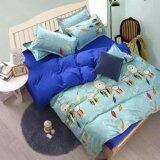ราคา Sweet Kipชุดผ้าปูที่นอน6ฟุต พร้อมผ้านวม5ชิ้น ลายกราฟฟิกโมบายขนนก สีฟ้า น้ำเงิน ที่สุด