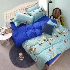 ราคา Sweet Kipชุดผ้าปูที่นอน6ฟุต พร้อมผ้านวม5ชิ้น ลายกราฟฟิกโมบายขนนก สีฟ้า น้ำเงิน เป็นต้นฉบับ Sweet Kip