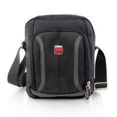 ขาย ซื้อ ออนไลน์ Swiss Gear กระเป๋าสะพายรุ่น Kw107 Ba Gy Black Greyของแท้ 100 Warranty Leafletถูกต้องตามกฎหมาย