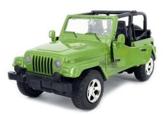 Sworld 1:32 wholesale toy vehicle convertible Jeep Wrangler windowbox acousto-optic warrior alloy car models-Green (Intl)