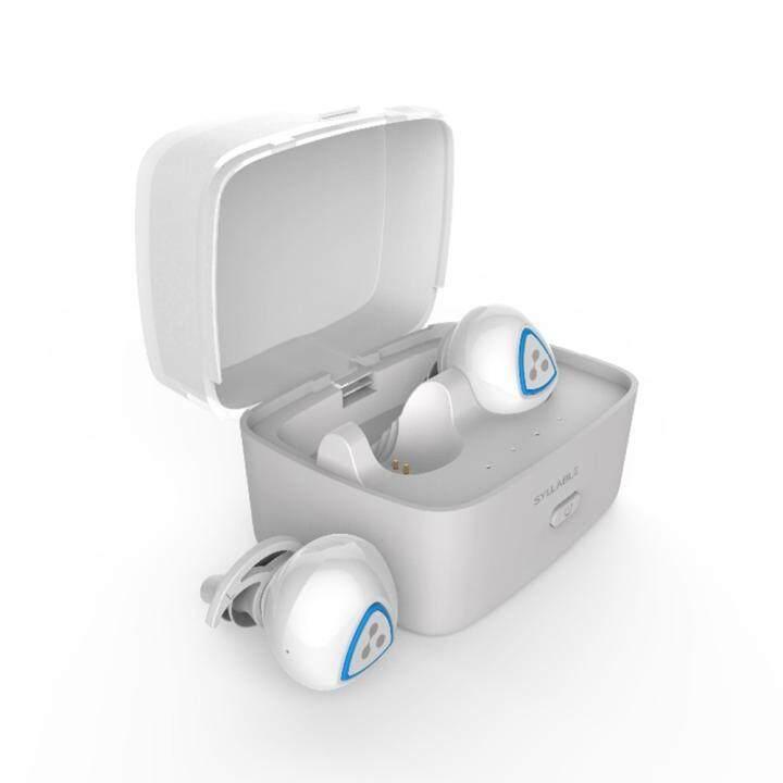 ราคา Syllable D900S Bluetooth Noise Cancelling Wireless Earbuds (White) – Intl