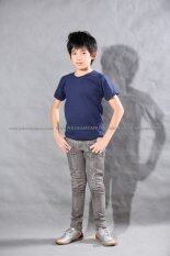 T Shirt Export เสื้อยืดเด็ก คอกลม แขนสั้น Cotton 200 สีกรมท่า เป็นต้นฉบับ