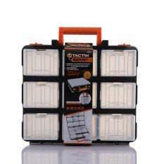 ราคา ราคาถูกที่สุด Tactix 320602 กระเป๋าเครื่องมือช่าง ปรับได้ 18 ช่อง 34 X 31 X 13 Cm ดำ ส้ม