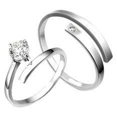 โปรโมชั่น Tanittgems แหวนคู่ แหวนคู่รักประดับเพชรดีไซน์สวยหรู Tanittgems