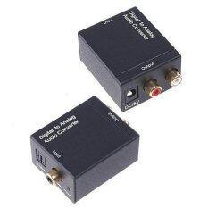 ราคา ตัวแปลงสัญญาณCoaxial And Optical To Rca Converter Black เป็นต้นฉบับ