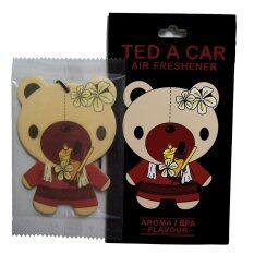 Ted A Car แผ่นหอมปรับอากาศ กลิ่นอโรมา สปา 2 ชิ้น เป็นต้นฉบับ