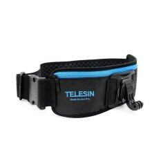 TELESIN Strap Belt with Pocket for GoPro Hero 4/3+/3/2/1 (Black/Blue)