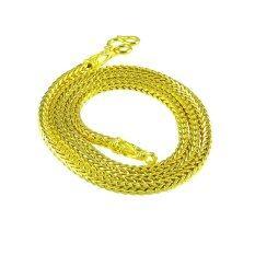 ซื้อ Tfine สร้อยคอสี่่่เสาหนา3มิลยาว18นิ้วกับ24นิ้วชุบทองไมครอน ออนไลน์