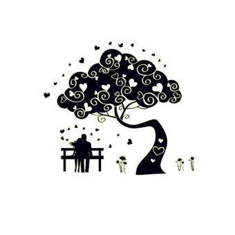 TGHome Wall Sticker Tree Love เรืองแสง