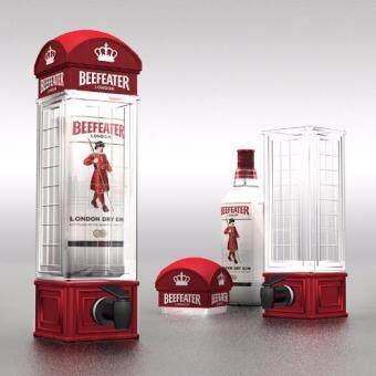 ทาวเวอร์เบียร์/น้ำผลไม้ รูปตู้โทรศัพท์ลอนดอน