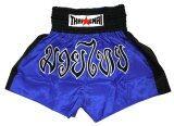 ซื้อ Thaismai กางเกงมวย Thai Boxing Shorts Nylon Strip สีน้ำเงิน ออนไลน์ ถูก